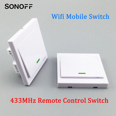 SONOFF Smart Wifi Mobile Remote Voice Control Switch 433MHz With Battery RC0656