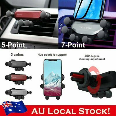 Universal Auto-Grip Car Cell Phone Stand Foldable Air Vent Gravity Holder Mount