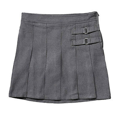 Girls Gray Skort Two Tab Scooter French Toast School Uniform Sizes 4 to 20