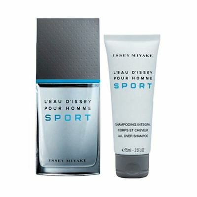 Issey Miyake L'Eau D'Issey Pour Homme Sport EDT Gift Set 50ml for Him, NEW
