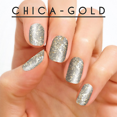 Color Street Nail Strips- Chica-gold. Very popular glitter! Silver/gold 🌟