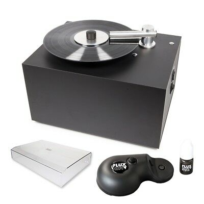 Pro-Ject Vinyl Cleaner VC-S Record Washing Machine + Cover + Flux Hifi Sonic