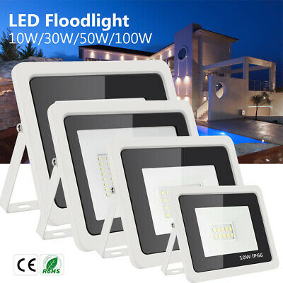 Foco Proyector LED 10W 30W 50W 100W luz de seguridad Floodlight Lámpara Pared