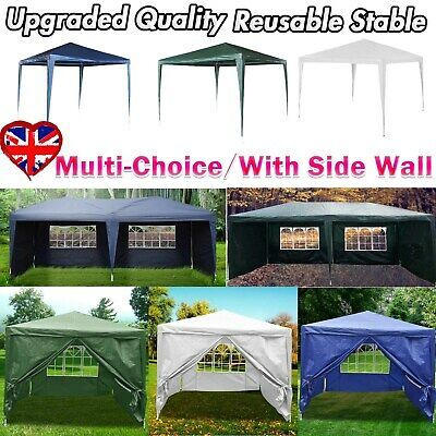 Garden Heavy Duty Gazebo Marquee Party Tent Wedding Canopy 3 Sizes Waterproof UK