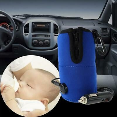 Baby Food Milk Water Drink Bottle Warmer Heater Cover Car Use Travel