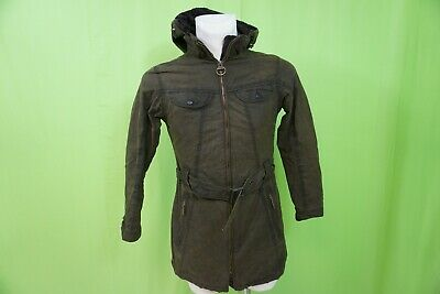 1c6733b88 WOMENS BARBOUR HOODED Waxed Jacket Brown Size USA 8 - $140.00   PicClick