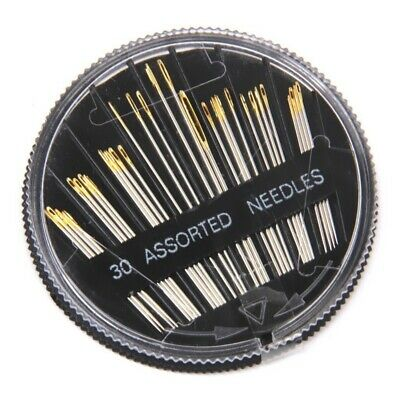 30pcs Assorted Hand Sewing Needles Embroidery Mending Craft Quilt Sew Case G1V6