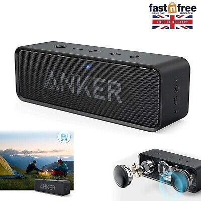 ANKER Portable BLUETOOTH Stereo Speaker USB 12 W Bass Audio Sound Built-in Mic