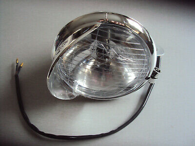 """Two 5"""" Chromed Cruiser Motorbike Motorcycle Scooter LED Spotlights Minor 2nds"""
