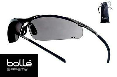 Bollé - Bolle Safety Glasses Contour Gray Lens - Metal Frame #40050 - With Pouch