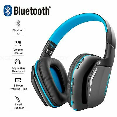 XGODY Bluetooth Wireless Gaming Headset Headphone with MIC For PC PS4 XBOX 2019