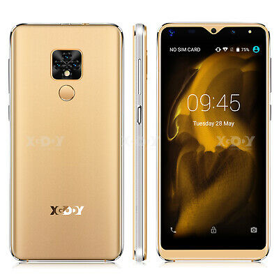 XGODY Android 9.0 Cell Phone Unlocked Smartphone 2 SIM 4 Core 16GB ROM Phablet