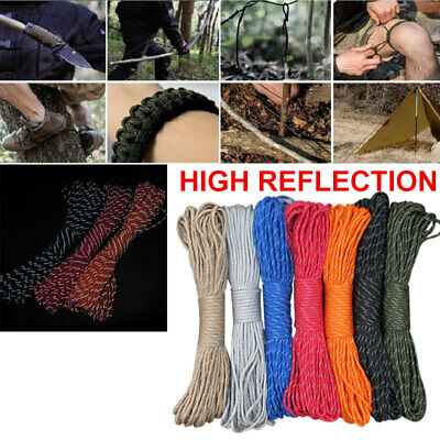 2A65 Camping Cord Reflective Heavy Load Diameter 4mm Handicrafts Water Outdoor