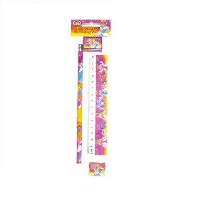 butterfly Theme Pencil Eraser Ruler Sharpener Stationery Set 4 piece play write