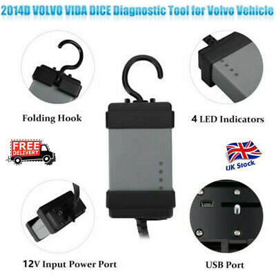 Volvo Auto Car Code Reader Vehicle Engine Diagnostic Scanner Reset Tool OBD USB