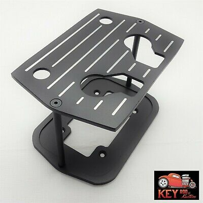Chromed Ball Milled Aluminum Optima Battery Tray Group 34 78 BlueYellow Red Hold