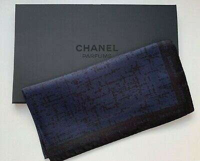 Chanel scarf handkerchief SILK bleu de chanel miniature 1,5 ml RARE VIP GIFT