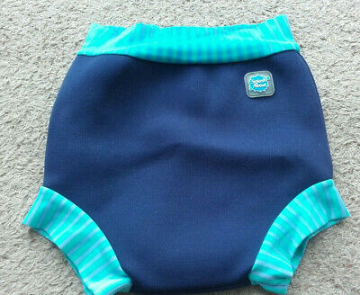 Splash About Happy Nappy Swim Nappy XL Navy Blue with Stripes