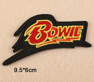 Toppa Patch David Bowie Ricamata Termoadesiva Rock Star Band