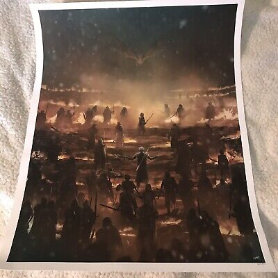 """Game Of Thrones """"The Long Night"""" Giclee Print By Andy Fairhurst LE 510"""