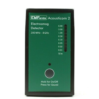 Acousticom 2 RF Detector Electrical Radio Frequency Microwave Meter EMF EMFields