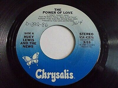 Huey Lewis & The News The Power Of Love / Bad Is Bad 45 1986 Vinyl Record