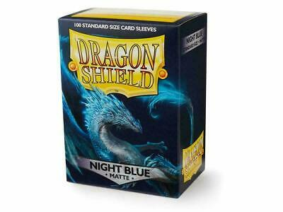 Night Blue Matte 100ct Dragon Shield Standard Size Sleeves SHIPS FREE 10% OFF 2+