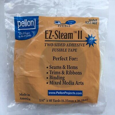 White 1//2-Yard x 20-Yard Pellon EZ2L-20T EZ Steam II Tape