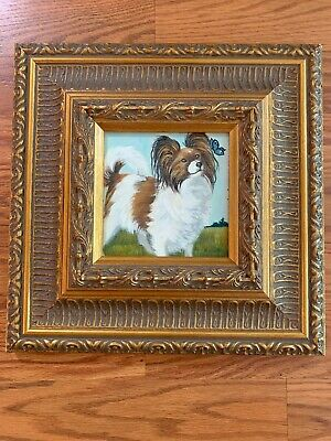 """Framed Painting """"Papillon & Butterfly"""" by Suzanne Renaud"""