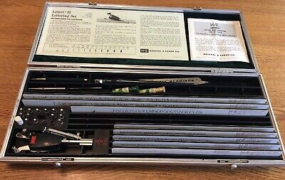 Vintage Keuffel & Esser K&E Leroy II Controlled Lettering Set #61 Good Condition