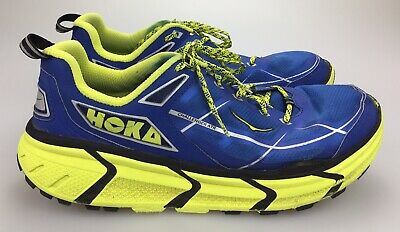 Hoka One One Challenger ATR Men's US 12.5 Blue Lime Athletic Running Shoes