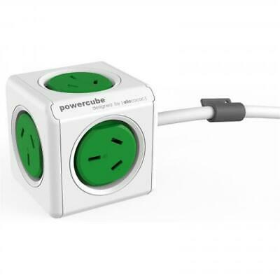 ALLOCACOC Powercube Extended - 5 Outlets - 3m - Green