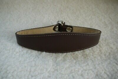 Leather Greyhound / Whippet Choke Collar