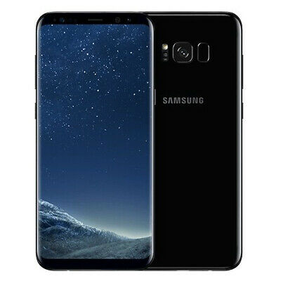 Samsung Galaxy S8 SM-G950U 64GB Black (Cricket) Android 4G LTE Smartphone GREAT