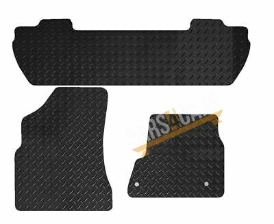 Tailored Rubber Car Mats for Peugeot Partner Tepee 08> Set of 3 With 2 Clips