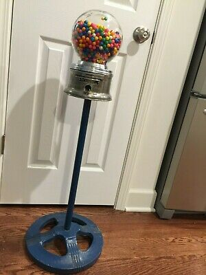 """Vintage Ford Gumball Penny Machine W/ Cast Iron Stand """"As Is"""" 1950's-1960's!"""