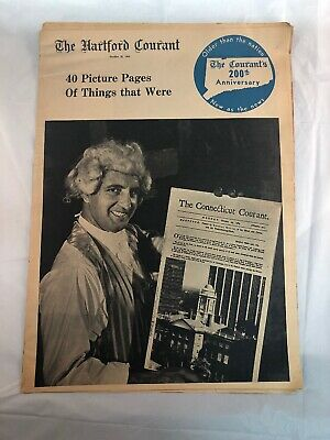 Hartford Courant Newspaper Pull Out Section 200th Anniversary October 25 1964
