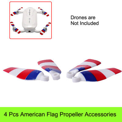 2 Pairs Propeller Props Guard American Flag Quick Release Kit For Dobby Drone