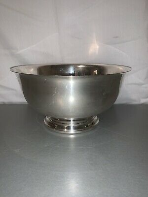 "Wm Rogers Paul Revere Reproduction 9"" Footed Silverplate Bowl"