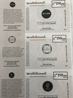 PERTH ENTERTAINMENT BOOK VOUCHERS 2019-20.. Vouchers Only!!!