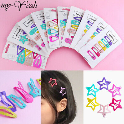 6Pcs Fashion Girls Baby Kids Cute Flower Star Hairpin Women Hair Clip Barrette