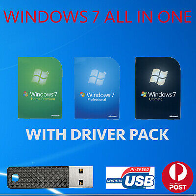 windows 7 all in one 32bit 64bit reinstallation clean install recovery install