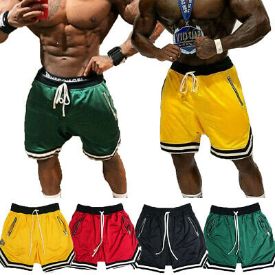 Mens Swim Fitted Shorts Bodybuilding Workout Gym Running Tight Lifting Shorts