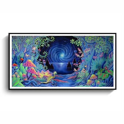 Psychedelic Tree Poster Wall Painting Canvas Art Print Picture Room Home D YHB