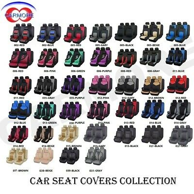 Full Front & Rear Universal Car Seat Covers Built-in Sponge Breathable Cushioned