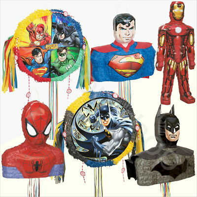 Superhero Avengers Party Pinata Toys Kids Boys Birthday Party Games Decoration