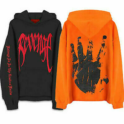 REVENGE 'KILL' HOODIE Tops MENS Black Red Print - XXXTentacion Bad Vibes Forever