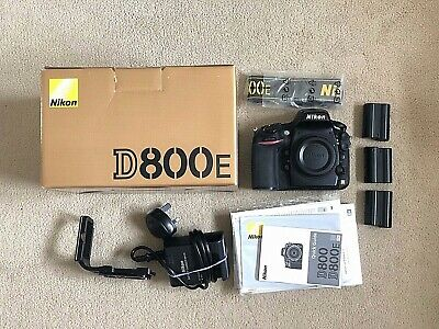 D800E 36MP Nikon Full Frame Camera with extra 2 batteries, L bracket and more
