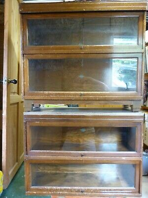 Globe Wernicke 4 section Barristers Stacking Bookcase/Display Cabinet circa 1930