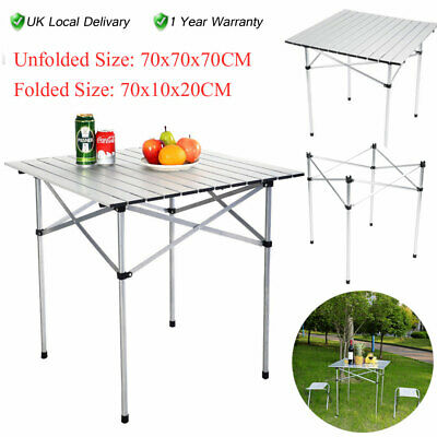 Portable Garden Picnic Table Camping Table Lightweight Roll Up Fold Table